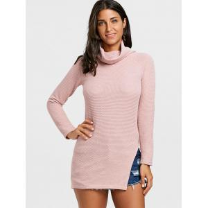 Cowl Neck Side Slit Tunic Sweater -