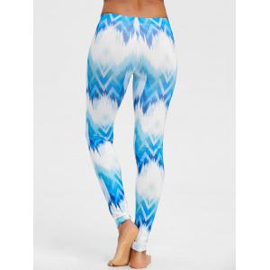Ombre Print Geometric Chevron Leggings -