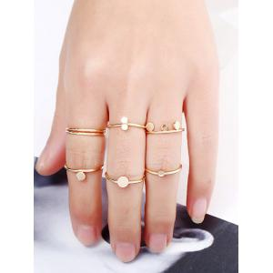 Disc Circle Simple Finger Ring Set -