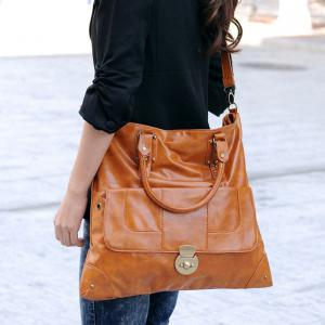 PU Leather Studs Multi Function Shoulder Bag -