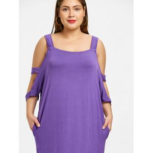 Plus Size Cut Out Straight Maxi Dress -