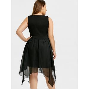 Plus Size Sleeveless Handkerchief Dress -