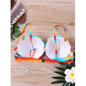 Padded Rainbow Swim Bra -