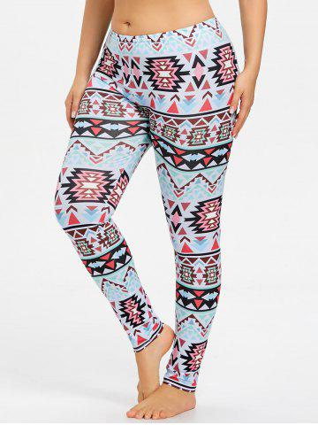Discount Plus Size Tribal Geometric Sports Leggings