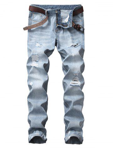 Buy Frayed Raw Hem Distressed Jeans