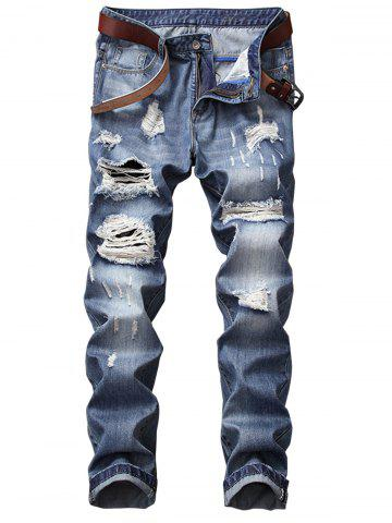 Discount Faded Wash Ripped Jeans
