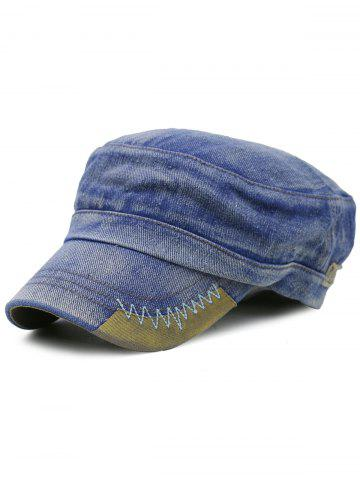 Latest Outdoor Line Embroidery Adjustable Denim Military Hat