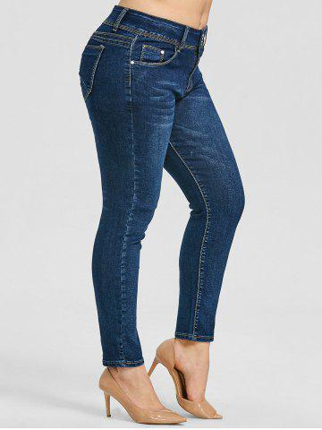 Hot Plus Size Skinny Zipper Jeans