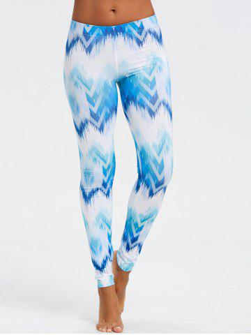 Online Ombre Print Geometric Chevron Leggings