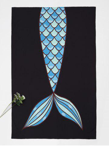 Hot Fishtail Print Rectangle Beach Throw