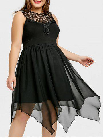 Fashion Plus Size Sleeveless Handkerchief Dress
