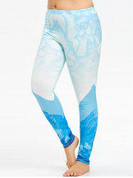 Plus Size Ombre Yoga High Rise Leggings -
