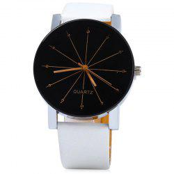 Ray Face - Montre à bracelet en similicuir -