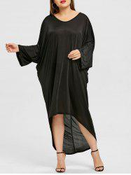Plus Size High Low Back Ladder Cut Out Dress -