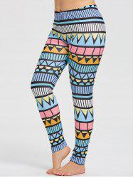 Plus Size Triangle Print Running Tights -