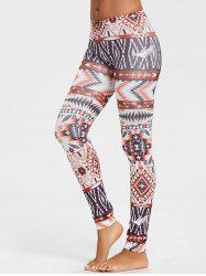 Geometric Print Leggings -