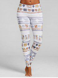 Geometric Print Skinny Leggings -