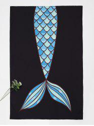 Fishtail Print Rectangle Beach Throw -
