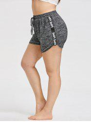 Love Strappy Panel Plus Size Workout Shorts -