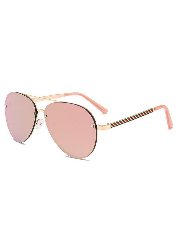 Outfits Anti-Fatigue Metal Bar Decorated Pilot Sunglasses
