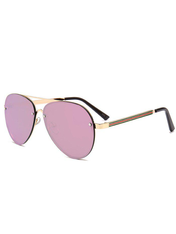 Shop Anti-Fatigue Metal Bar Decorated Pilot Sunglasses