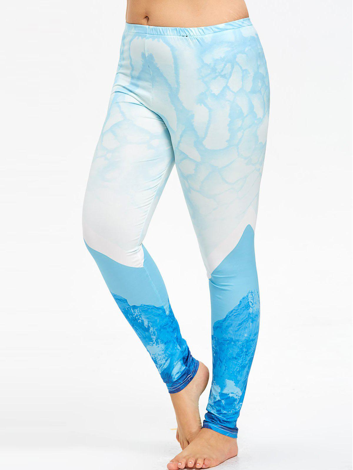 Affordable Plus Size Ombre Yoga High Rise Leggings