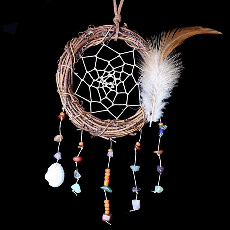 Outfit Feather Vine Circle Shell Hanging Handmade Dream Catcher