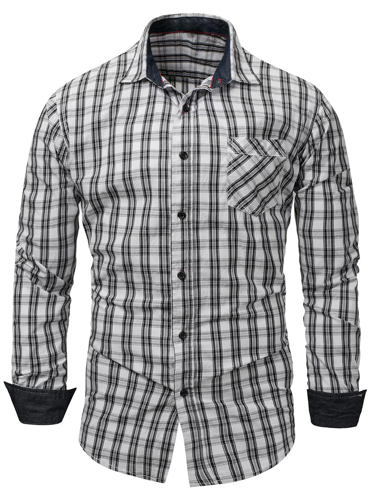 Latest Long Sleeved Checked Pocket Shirt