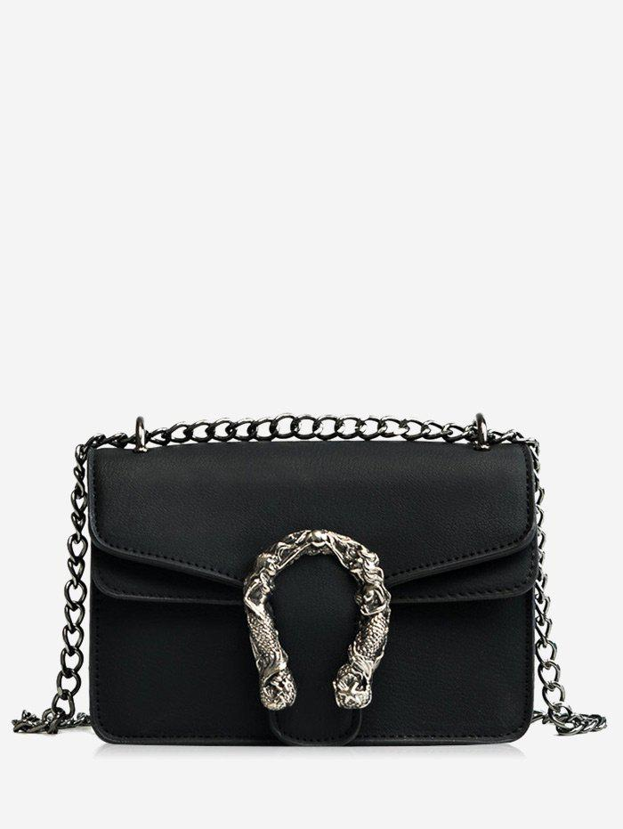 Sale Flap Chain Metal Embellished Crossbody Bag