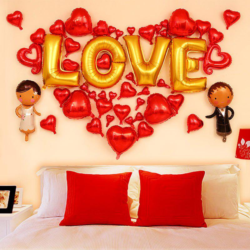 New Wedding Party Decoration Love Hearts Shaped Balloons Set