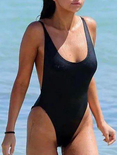 Outfit Scoop Neck Backless Swimwear