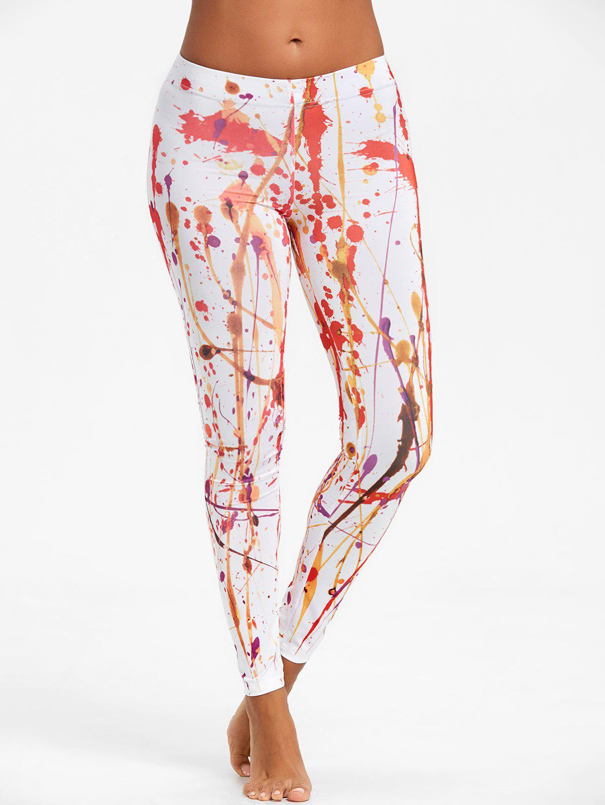 Fashion Blood Splatter Paint Leggings