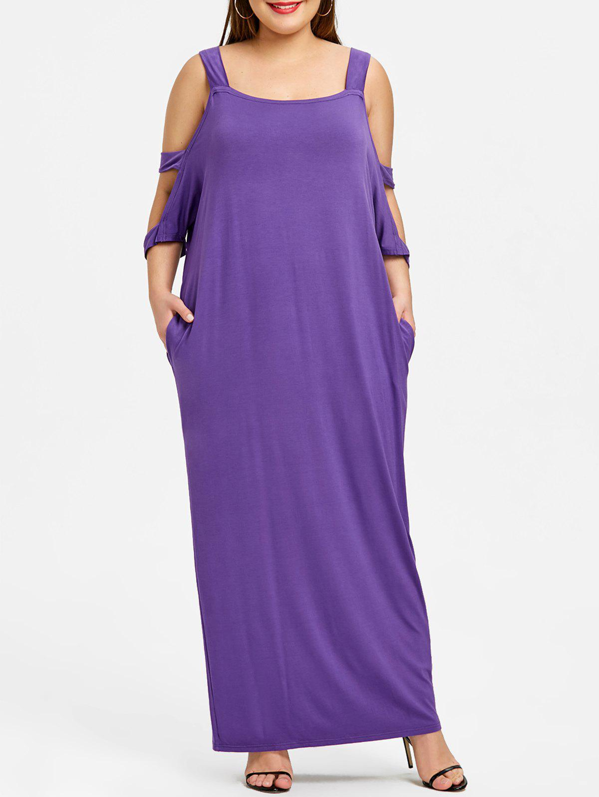Affordable Plus Size Cut Out Maxi Shift Dress