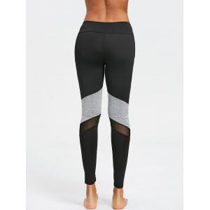 Mesh Panel Two Tone Capri Leggings -