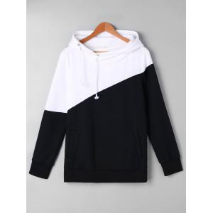 Two Tone Drawstring Hoodie and Sweatpants -