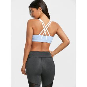 Padded Strappy Pull On Sports Bra -