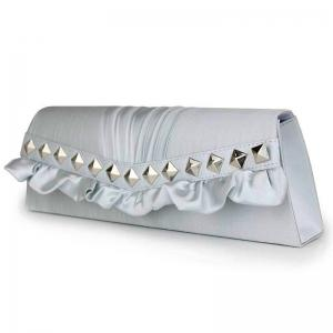 Ruched Rivets Evening Bag -