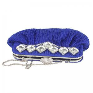 Rhinestone Evening Bag with Chain -
