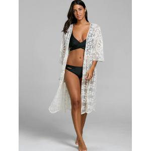 See Thru Lace Embroidered Cover Up -