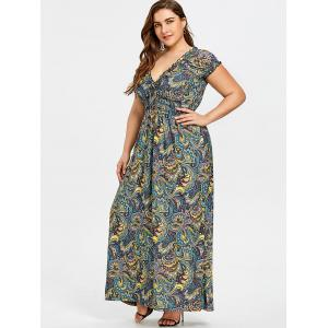 Robe taille empire grande taille smockée -