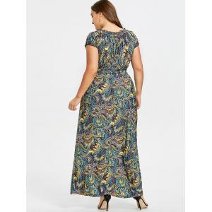 Robe Smockée à Taille Empire Grande Taille -