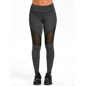 Mesh Insert Exposed Seam Leggings -