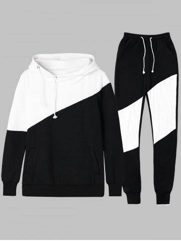 Best Two Tone Drawstring Hoodie and Sweatpants