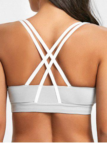 Hot Padded Strappy Pull On Sports Bra