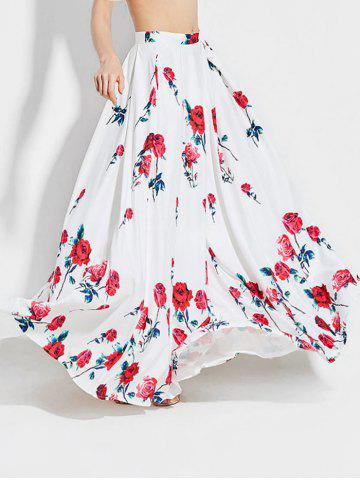 Affordable Floral Print High Waisted Maxi Skirt