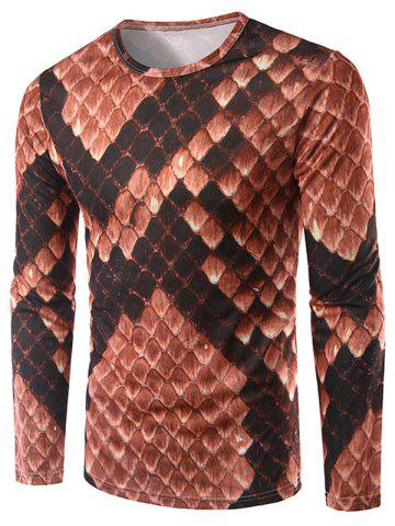 Long Sleeve Geometric Print Tee