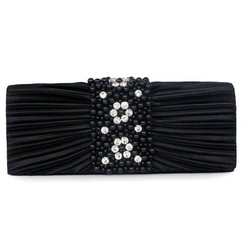 Unique Pleated Rhinestone Beading Evening Bag