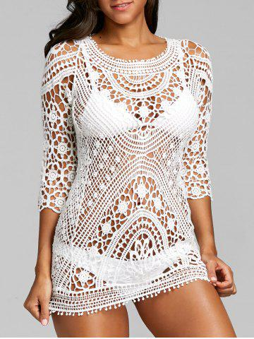 Fancy Hollow Out Flower Crochet Lace Cover Up