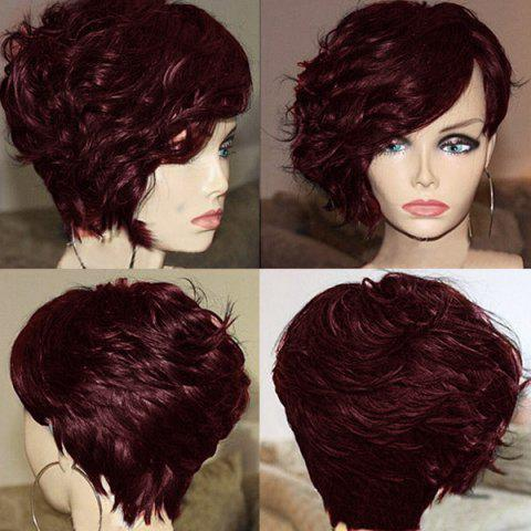 Short Side Bang Layered Fluffy Curly Synthetic Wig