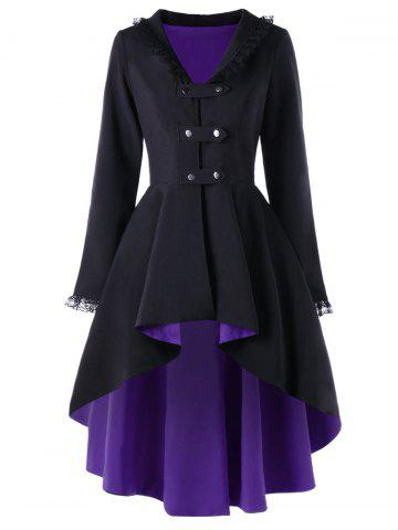 Hot High Low Lace Trimmed Gothic Coat